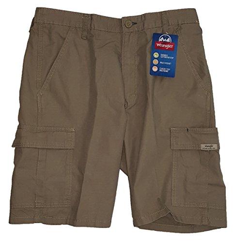 Wrangler Military Khaki Rip-Stop Cargo Shorts - 36