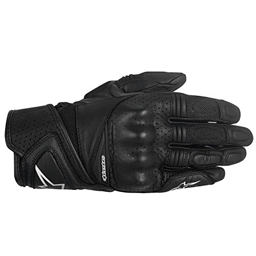 Alpinestars Stella Baika Womens Leather Motorcycle Gloves - Black - Small