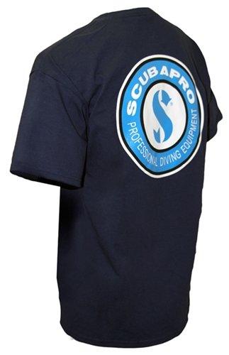 ScubaPro Unisex Screen Printed Logo T-Shirt (Navy, Large)