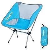 OTTAB Outdoor Camping Picnic Foldable Ultralight Aluminum Moon Lence Travel Stool Seat Folding Chair Blue