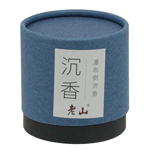Backflow Cone Incense-100g Natural Agarwood Cone Incense Waterfall Incense Backflow Incense(BLUE)