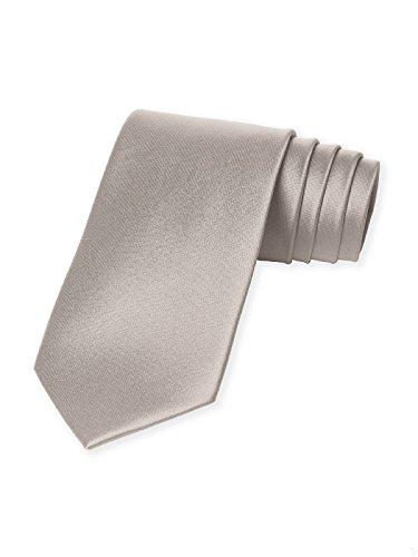 Men's Matte Satin Neck Tie by Dessy - Taupe