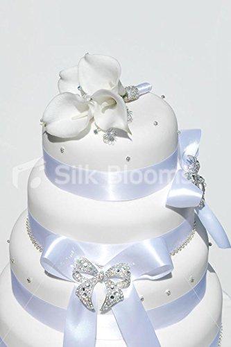 Amazoncom Elegant White Calla Lily Sparkling Crystal Wedding - Calla Lilly Wedding Cake