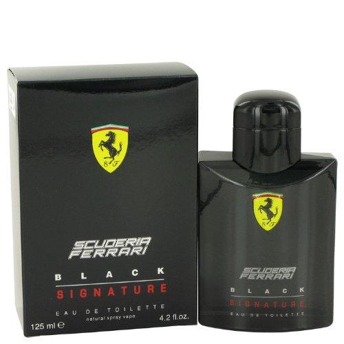 Ferrari Scuderia Black Signature by Ferrari Eau De Toilette Spray 4.2 oz for - Black Ferrari Scuderia