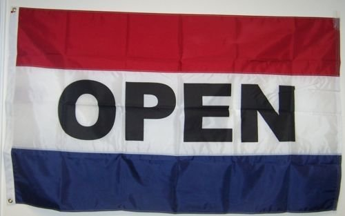 2X3 Open For Business 2Ply Double Sided Printed Nylon Flag 2'X3' Banner