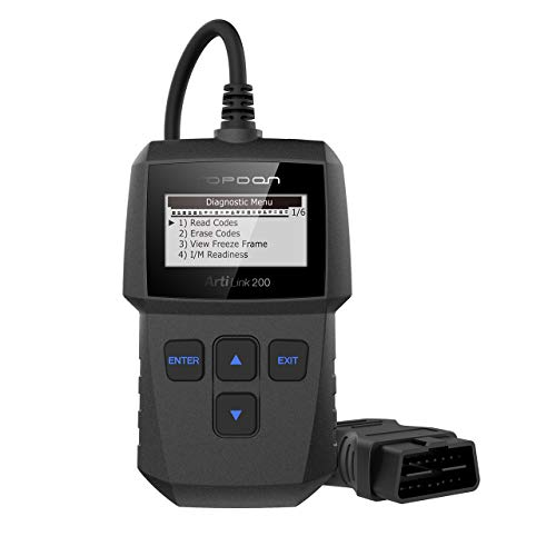 OBD2 Scanner - Fualt Code Reader with Clear Check Engine Light, CAN OBDII Car Diagnostic Scan Tool for All 1996+ Vehicles, Simple Operation Professional OBD Scanner TOPDON AL200