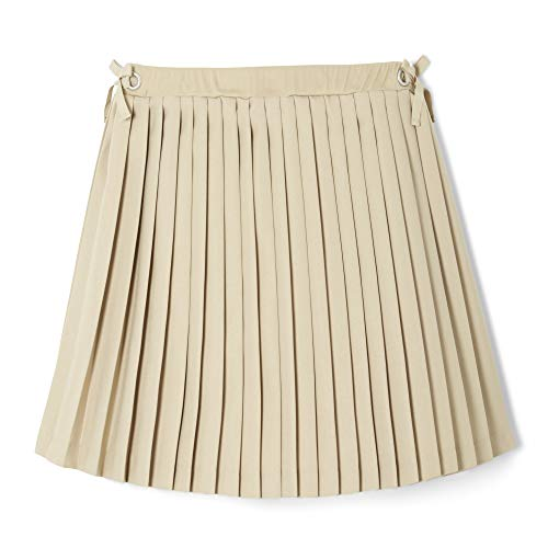 French Toast Girls' Big Bow Grommet Scooter, Khaki - Shorts French Pleats Toast