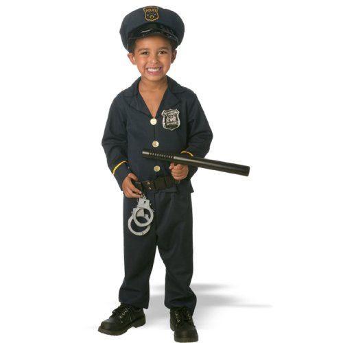 Jr. Policeman Toddler Costume(3T-4T-As Shown) (Policeman Costumes)