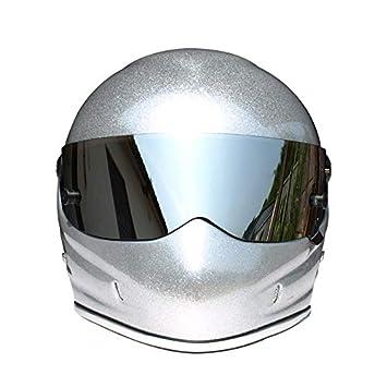 ZHAORLL Moda Personalidad Casco De Casco Completo De Motocicleta De Otoño E Invierno Cálida Kart Carreras
