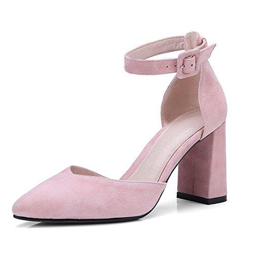 ASL04549 Resistant Hochhackiges Sandalen Sandals Verschluss Pink Ohne Water BalaMasa Nubuck Toe Kaltfutter Closed Damen 7YwzqT