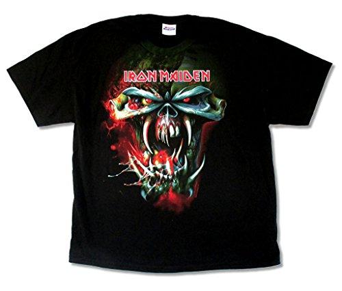 - Iron Maiden TFF Face Final Frontier 2010 Tour Mens Black T Shirt (XL)