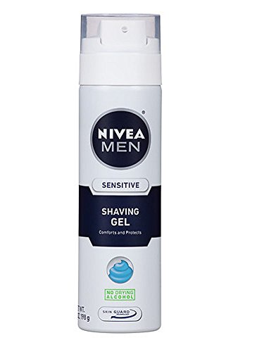 Nivea for Men Sensitive Shaving Gel, 7 oz, 2 pk