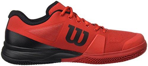Wilson Wrs322640e075, Scarpe da Tennis Uomo, Rosso (Wilson Red / Black / Barbados Cherry), 41 1/3 EU