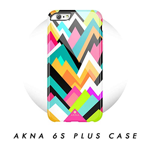 iPhone 6 Plus / 6s Plus case Geometric, Akna Glamour Series Flexible Hard TPU Cover for Both iPhone 6 Plus & iPhone 6s Plus (#53-U.S) (Colorful Iphone 6plus Cases)