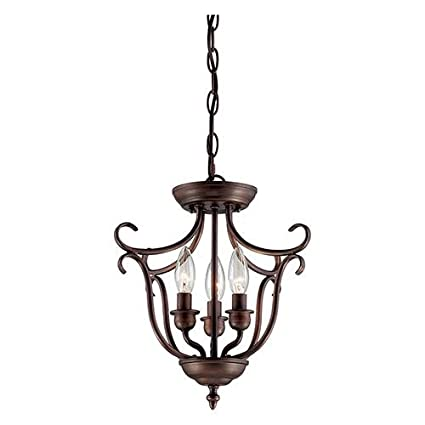 45a425c5eee Millennium 1323-RBZ Three Light Pendant Bronze Dark - Ceiling Pendant  Fixtures - Amazon.com