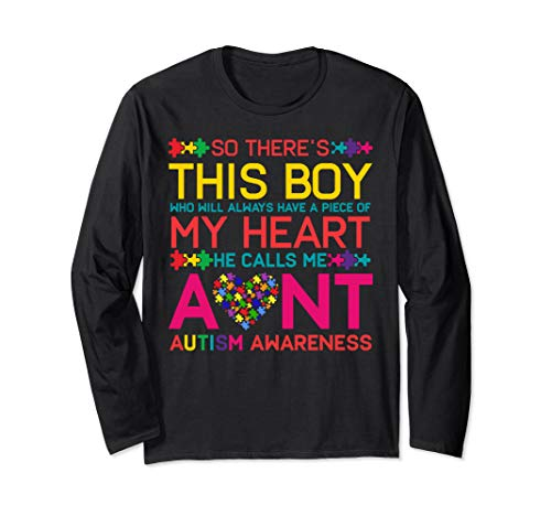 - Autism Aunt Shirt Autism Awareness Day Long Sleeve T-shirts