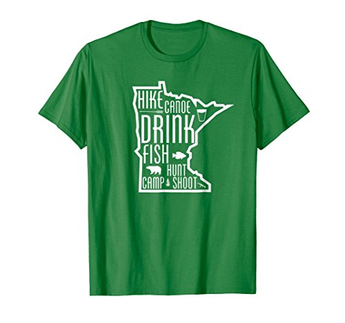 Minnesota Outdoors Hike Canoe Fish Hunt Camp Shoot MN TShirt