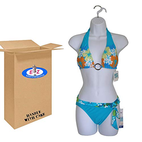 Female Dress White Plastic Mannequin Body Form. Great For Displaying Small & Medium Sizes. by The Competitive Store