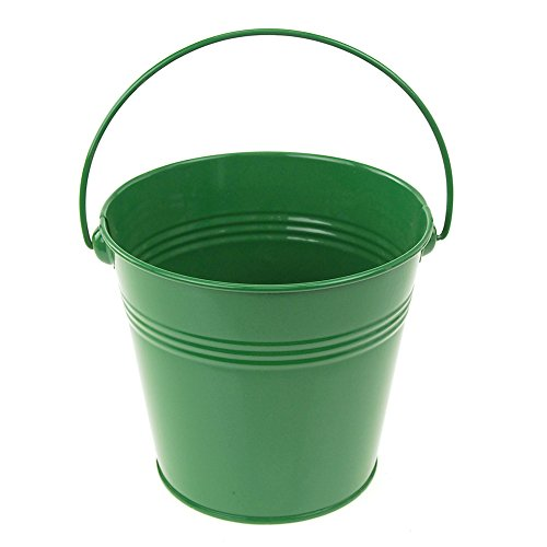 Homeford FCF041959GRN Metal Pail Buckets Party Favor, 5