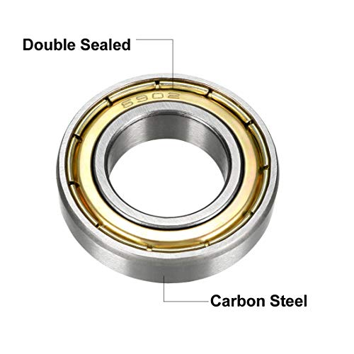 5PCS 6902ZZ Deep Groove Metal Double Shielded Ball Bearing 15mm*28mm*7mm