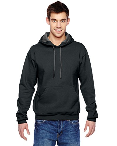 FOL SF76 Adult Sofspun Hooded Sweatshirt - Black, Extra Large
