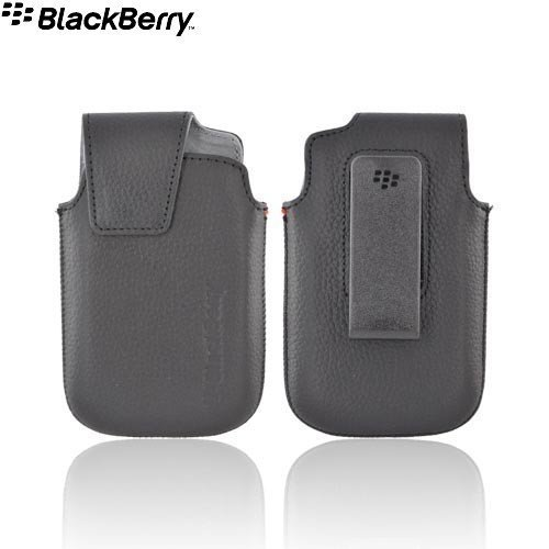 Blackberry Bold 9900/9930 - OEM Black Leather Pouch with Swivel Holster (ACC-38855-301) (Bulk Packaging)