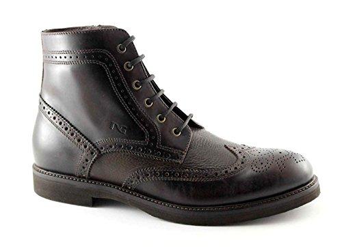 Nero Giardini Black Gardens 4423 Braun Schnürsenkeln Man Zip Stiefel Englisch Marrone