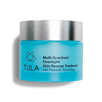TULA Probiotic Skin Care Multi-Spectrum Overnight Rescue Treatment Anti Aging Night Cream, Contains Natural Peptides, AHAs, Retinol, Vitamin C to Reduce the Appearance of Lines and Dull Tone 1.67 oz