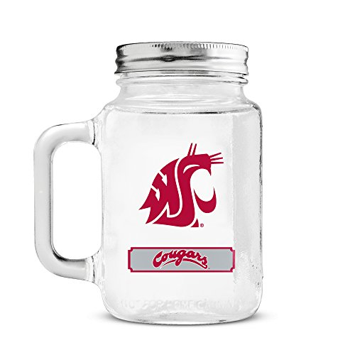Duck House NCAA Washington State Cougars 20oz Glass Mason Ja