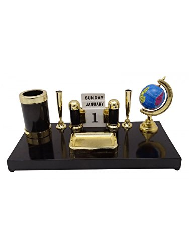 Desk Organizer Accessory Office Supplies Pen Holder Globe Stand Table Decor