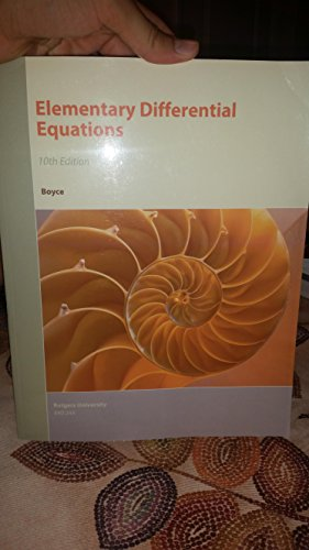 Elementary Differential Equations 10th edition