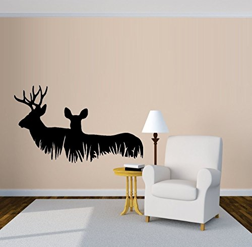 Deer Family Laying in Grass # 1 ~ Wall Decal 15