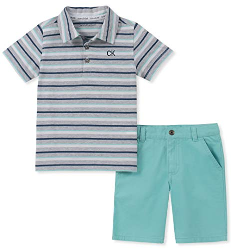 Calvin Klein Boys' Toddler 2 Pieces Polo Shorts
