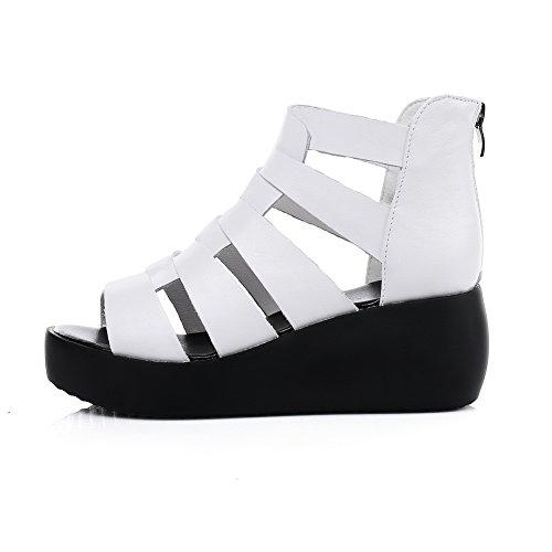 BalaMasa ASL05267, Bout Ouvert Femme - Blanc - Blanc, 36.5 EU