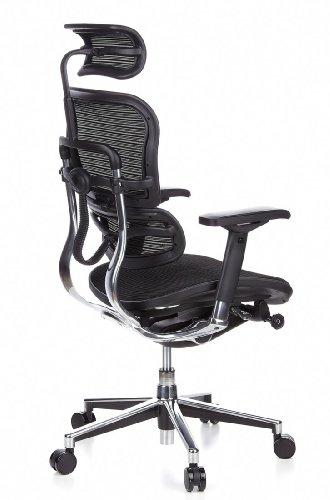 Ergohuman Bürostuhl mit Netz-Stoff, schwarz - 5