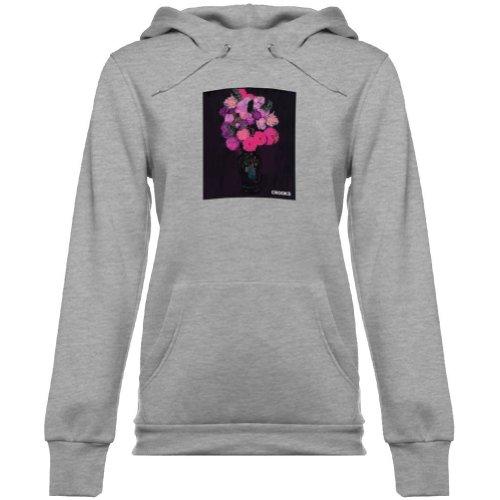 Crooks and Castles Women Flowerbomb Hoody Pullover Sweatshirt, Heather Gray, Medium ()