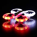 GEEKERA Mini Drone, LED Drone for Kids with 2.4G 4CH 6 Axis Headless Mode Altitude Hold, 3D Flips & One-Key Return Mini Quadcopter Drone Best for Beginners