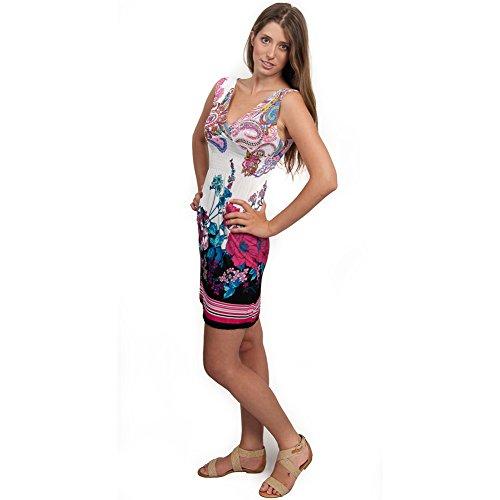 Paisley Fashion Stretchy Sleeveless Sundress