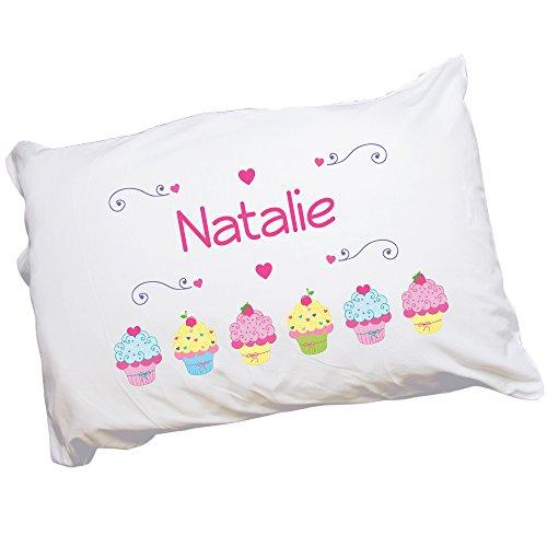 (MyBambino Child's Personalized Cupcake Pillowcase)