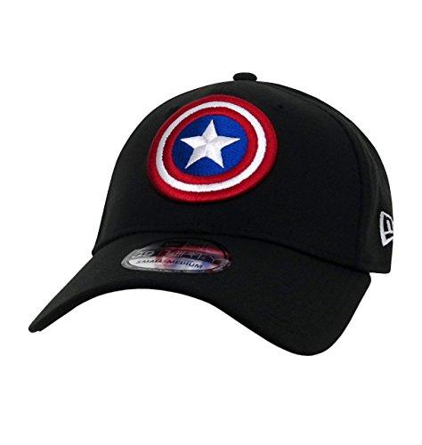 Captain America Shield Black 39Thirty Cap- Medium/Large