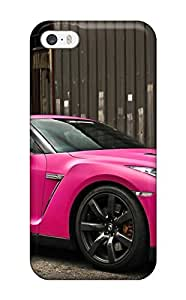 Durable Defender Case For Iphone 5/5s Tpu Cover(nissan Gtr In Matte Pink)