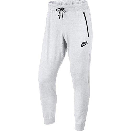 Nike Mens Advance 15 Woven Sweatpant Jogger White Heather-Black 918322