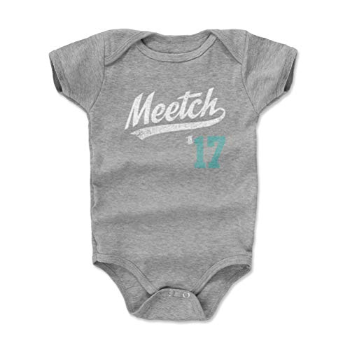 500 LEVEL Seattle Baseball Baby Clothes, Onesie, Creeper, Bodysuit - 6-12 Months Heather Gray - Mitch Haniger Meetch Players Weekend Script S WHT