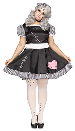 Fun World Women's Plus Size Broken Doll Costume, Multi, XX-Large