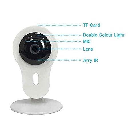 Cámara IP bebé,Micrófono y altavoz,Audio bidireccional,Cámara de Seguridad mascotas,1,0 Megapixels,Instalar Fácil,Vigilancia Seguridad Interior Detección ...