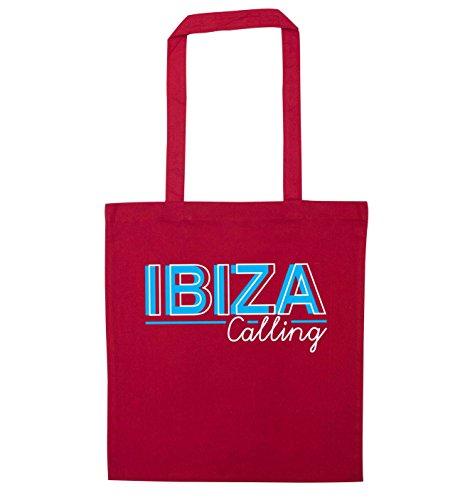 Flox Creative Tote Bag Ibiza calling Red