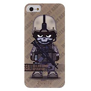Soldier with Skull Head Pattern Hard Case with Transparent Frame for iPhone 5/5S