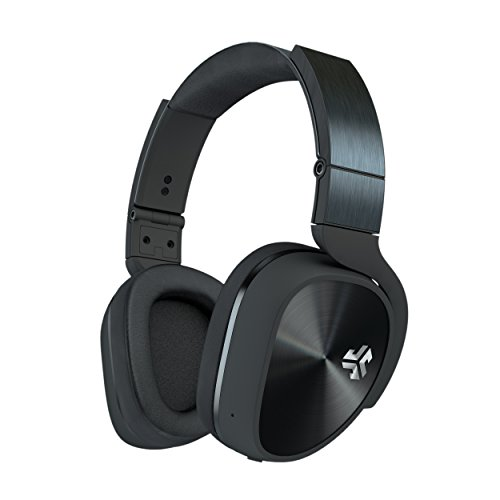JLab Audio Flex Studio Bluetooth Noise Canceling DJ Style Headphones with METAL Build, carrying case and folding for easy travel. - Blk Noise Canceling Headphone