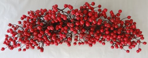 28'' Christmas Red Berry Swag by V-Max Floral Decor