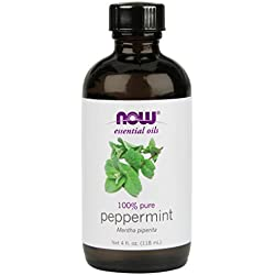 NOW Peppermint Essential Oil, 4 oz